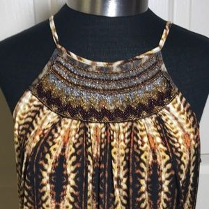 Worthington black/gold animal print TOP /M
